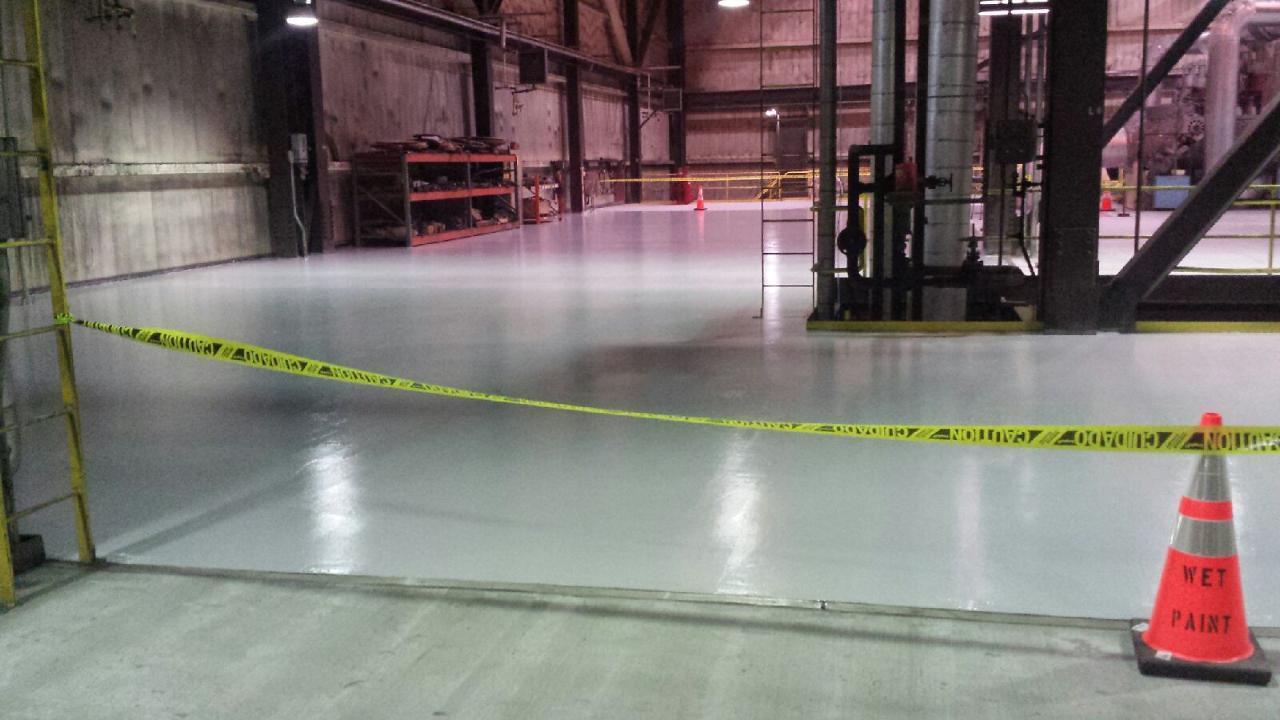 Repaint Turbine Deck Floor at JP Madgett Power Plant