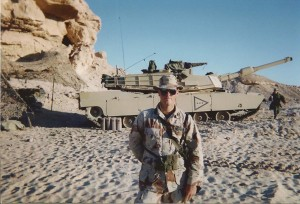Induron's Jeff White in the Gulf War