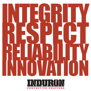 Induron's Values: Integrity, Respect, Reliability, Innovation