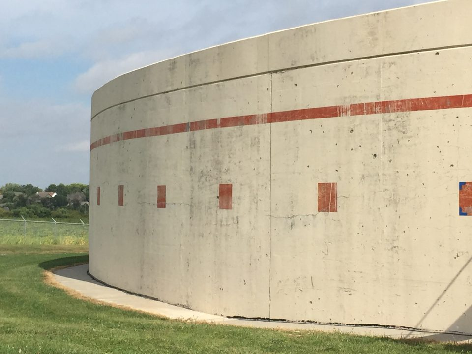 5-million gallon concrete water storage tank in Papillion, NE