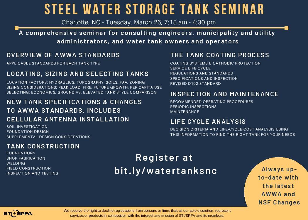 Induron to Present at Steel Water Storage Tank Seminar | High
