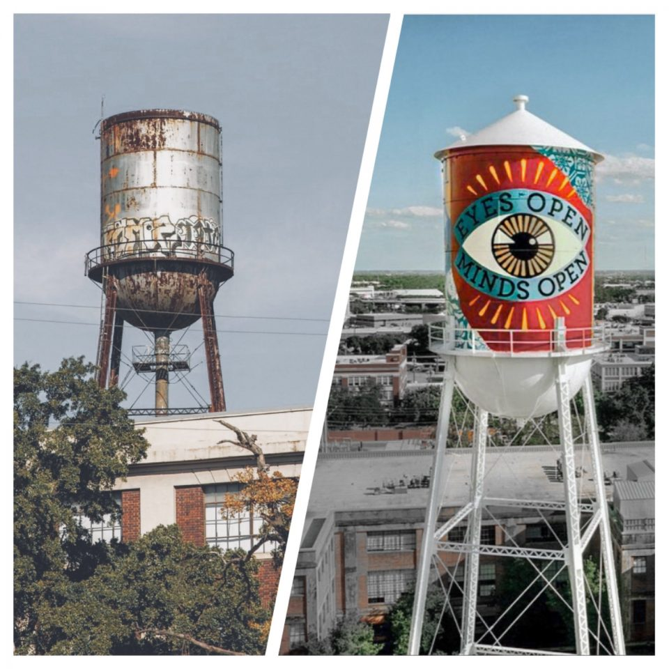 Continental Gin Company Cone-Top Water Tower Painting